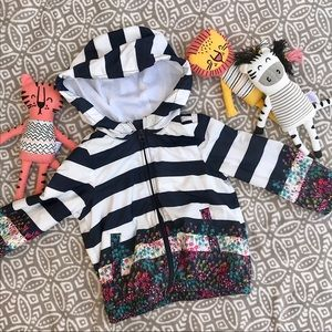 Baby Gap Striped Girls Windbuster Jacket